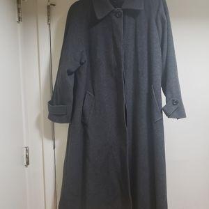Jones New York Gray Wool Trench Coat